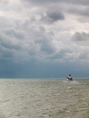 Ferry on stormy sea - p388m702047 by Andre