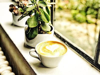 prepared healthy food with coffee - p1166m2207944 by Cavan Images