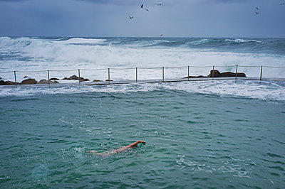 Ocean pool Swimmer - p1125m1108633 by jonlove