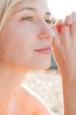 Portrait of blond woman - p1363m2038069 by Valery Skurydin