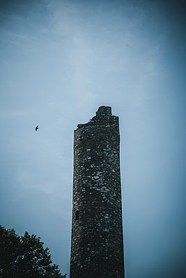 Ireland, The Round Tower of Monasterboice - p1681m2283668 by Juan Alfonso Solis