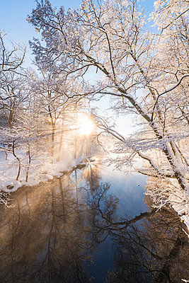 River at winter - p312m2119561 by Johner