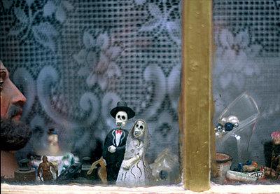 spooky marriage at vintage vitrine   - p5673501 by Sandrine Agosti-Navarri
