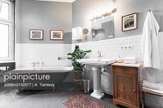 Interior of a bathroom - p300m2132577 by A. Tamboly