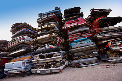 Crushed car lot - p4422646f by Design Pics