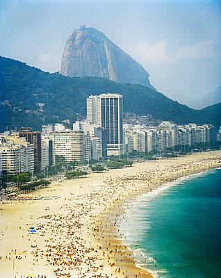 View of Copacabana Beach Rio de Janeiro Brazil. - p31221673f by Per Eriksson