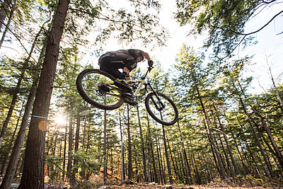 Autumn mountain biking in the WHite Mountains of New Hampshire. - p343m1168192 by Joe Klementovich