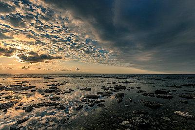 Sunset light at the seaside - p393m1115423 by Manuel Krug