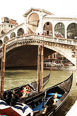 Venetian Gondola and Rialto Bridge - p579m2014839 by Yabo