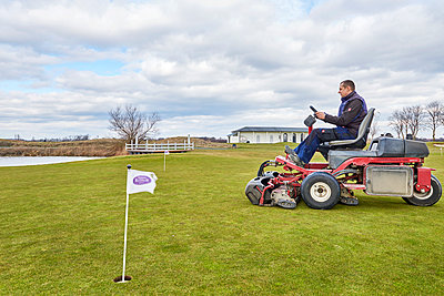Greenkeeper at work - p1119m1424333 by O. Mahlstedt