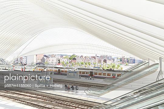 Bahnhof Liège-Guillemins in Lüttich, Bahnhofshalle - p587m1155060 von Spitta + Hellwig