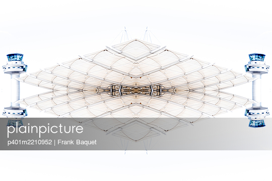 Abstract Kaleidoscope Salzburg Airport - p401m2210952 by Frank Baquet