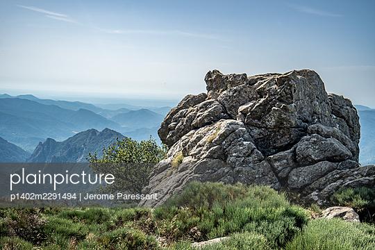 France, Rock in the landscape - p1402m2291494 by Jerome Paressant