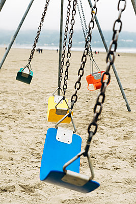 Swings on the Beach - p1262m1440891 by Maryanne Gobble