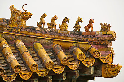 Roof in forbidden city beijing - p9246176f by Image Source