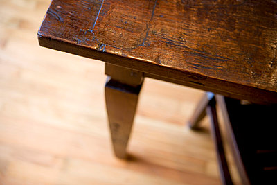 Corner of Antique Table - p5551056f by LOOK Photography
