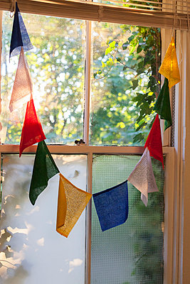 Flags in window  - p956m892191 by Anna Quinn