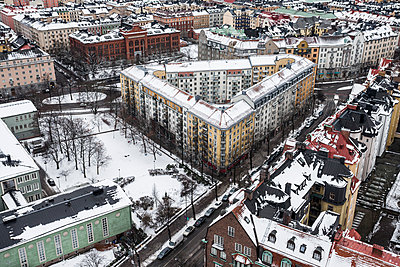 City buildings at winter - p312m1139541 by Peter Rutherhagen