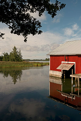 Old boathouse in Finland - p470m2244389 by Ingrid Michel