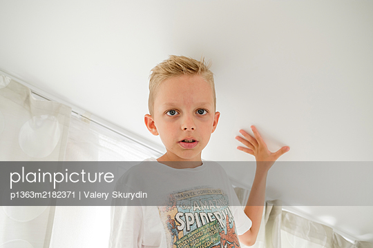 Boy at home - p1363m2182371 by Valery Skurydin