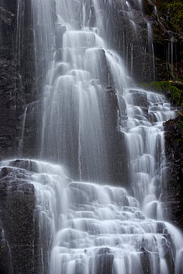 Fairy Falls detail, Columbia River Gorge, Oregon, United States of America, North America - p871m929678f by James Hager