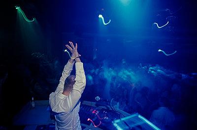 DJ, Nasa nightclub, Reykjavik, Iceland - p1028m2044283 by Jean Marmeisse