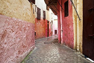 Backstreets of Tangier medina; Tangier, Morocco - p442m1179905 by Design Pics