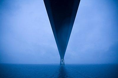 Denmark, Great Belt Fixed Link runs between Danish islands and Funen. - p300m981374f by Dieter Schewig