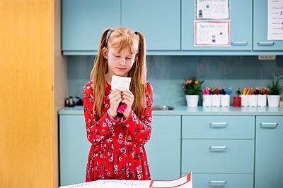 Girl in classroom - p312m2174467 by Scandinav