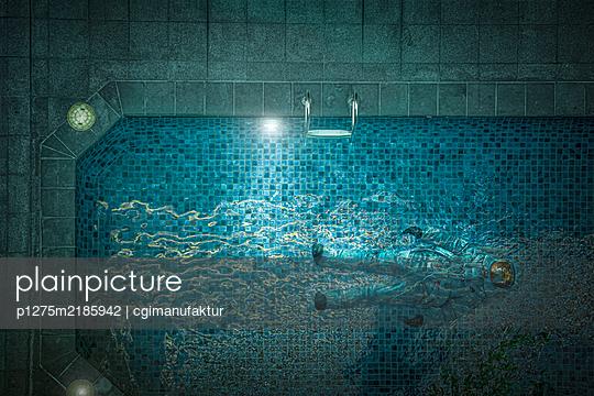 Astronaut im Pool - p1275m2185942 von cgimanufaktur