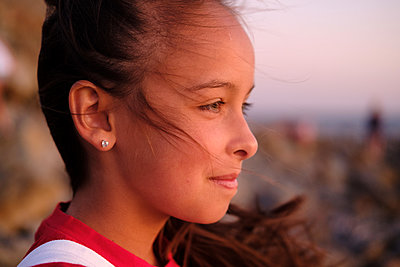 Portrait of girl outdoors - p1363m2142673 by Valery Skurydin