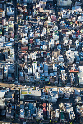 Aerial view of big town - p958m1582895 by KL23