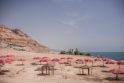 Beach at the Dead Sea - p741m929356 by Christof Mattes