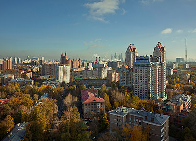 Overlooking Moscow town - p390m1091743 by Frank Herfort