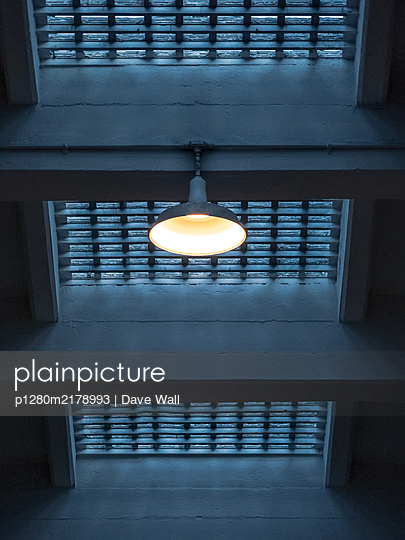 Single vintage ceiling light - p1280m2178993 by Dave Wall