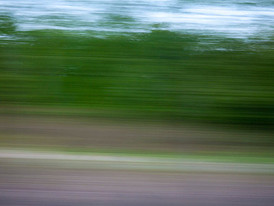 Landscape though train window - p3883171 by Weather photography