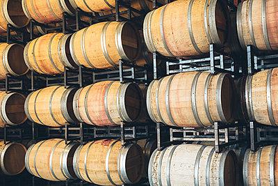 Wine barrels aging - p555m1415533 by Inti St Clair