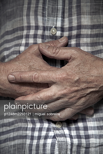 Hands of an elderly man - p1248m2293121 by miguel sobreira