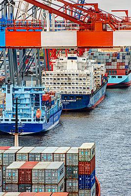 Containerterminal Hamburg - p1099m1515531 von Sabine Vielmo