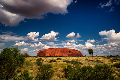 View of Ayers Rock - p1154m1462034 by Tom Hogan