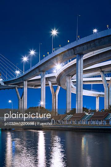 Bhumibol bridge in Bangkok - p1032m1220666 by Fuercho