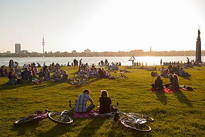 Alster; Hamburg - p4880545 von Bias