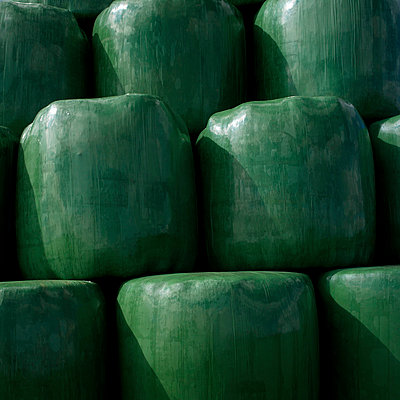 Green plastic silo - p8130106 by B.Jaubert