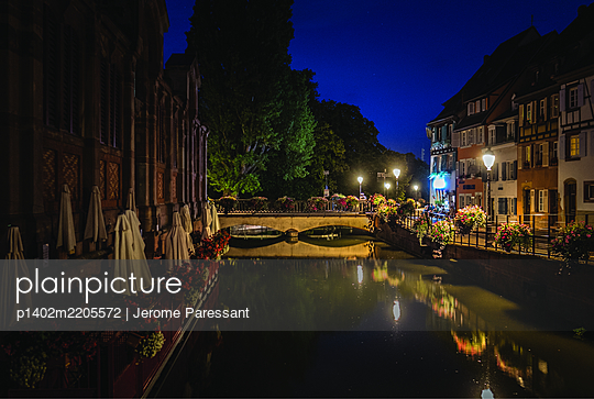 France, Colmar at night - p1402m2205572 by Jerome Paressant