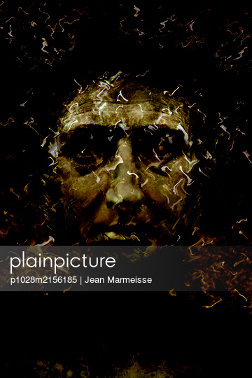 Mysterious face - p1028m2156185 by Jean Marmeisse