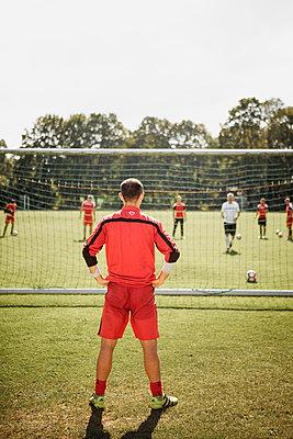 Fußballer beim Training - p1319m1196343 von Christian A. Werner