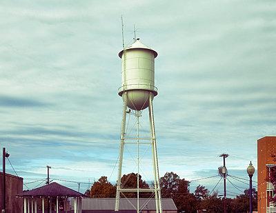 Mississippi Watertower - p1154m2152875 by Tom Hogan