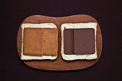 Bread with cookies and chocolate - p8720003 by MYOKA