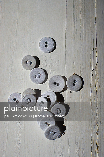 White buttons - p1657m2262430 by Kornelia Rumberg