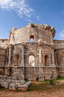 Frühbyzantinisches Kloster des Simeon, Simeonskloster, Aleppo, Syrien - p1493m2063589 von Alexander Mertsch